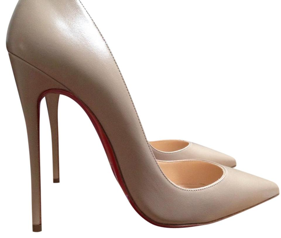 e75518e645d5 Christian Louboutin Pigalle Valentino Rockstud Chanel Wedding Nu Beige Pumps  Image 0 ...