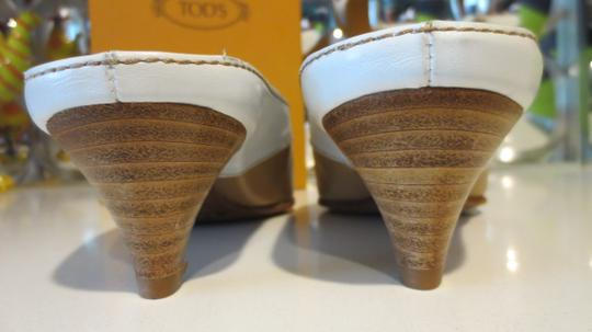 Tod's Beige and white Mules Image 3