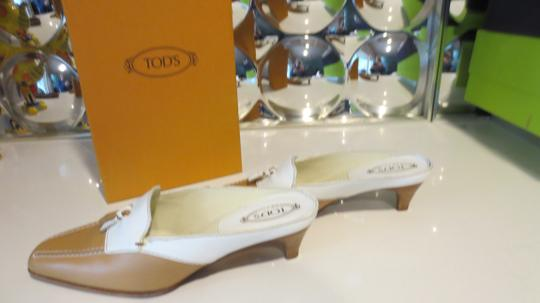 Tod's Beige and white Mules Image 4