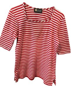 Christine Alexander Top Red and White