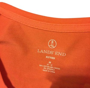 Lands' End T Shirt peach/salmon orange