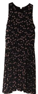 Ann Taylor LOFT short dress Black with Lavender Cherries on Tradesy
