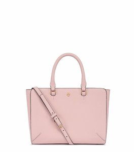 Tory Burch Saffiano Leather Satchel in Pale Apricot