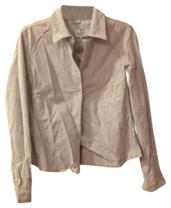 Ann Taylor LOFT Button Down Shirt Sky Grey