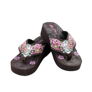 Montana West Brown ,Multicolor Sandals