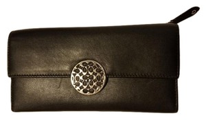 Coach Coach Alexandra Leather Slim Envelope Full Size Wallet - Black