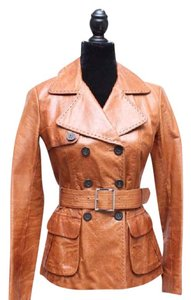 Karen Millen Brown Leather Jacket