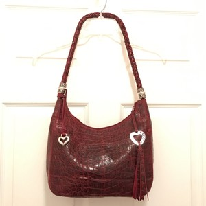 Brighton Leather Crocodile Alligator Hobo Bag