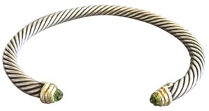David Yurman Peridot Sterling Silver/Gold Cable Classics Bracelet
