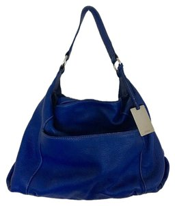 Furla Cobalt Leather Hobo Shoulder Bag