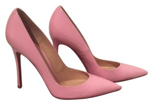 Gianvito Rossi Baby Toe Pink Patent Leather Pumps