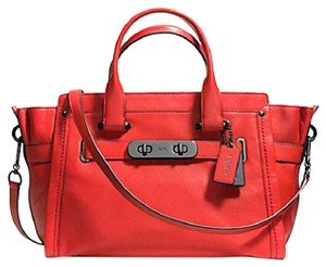 Coach Satchel in DARK GUNMETAL/CARMINE