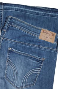 Hollister Distressed Boot Cut Jeans-Distressed