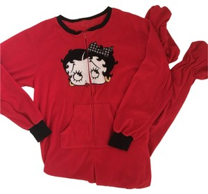 Betty Boop Straight Pants Red, Black, White