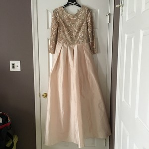 BHLDN Champagne Pink Viola In Blush Formal Wedding Dress Size 10 (M)
