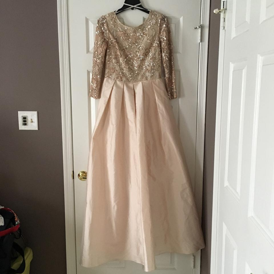 Bhldn Champagne Pink Viola In Blush Formal Wedding Dress Size 10 M