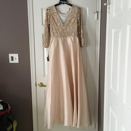 BHLDN Champagne Pink Viola In Blush Formal Wedding Dress Size 10 (M) Image 3
