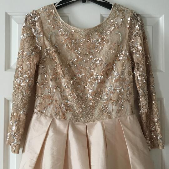 BHLDN Champagne Pink Viola In Blush Formal Wedding Dress Size 10 (M) Image 4