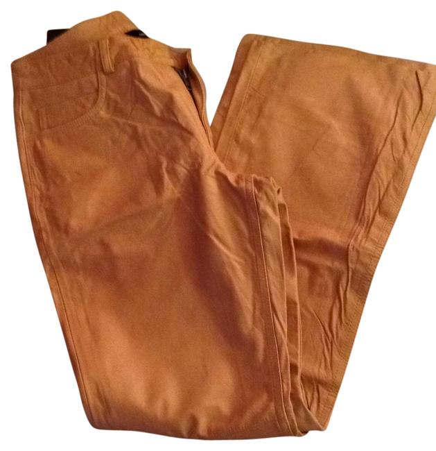Item - Mustard Leather Pants Size 4 (S, 27)