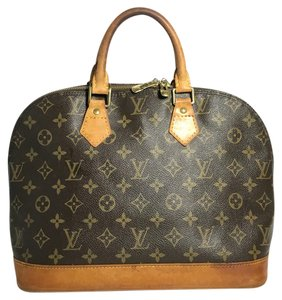 Louis Vuitton Alma Monogram Alma Lv Alma Handbag Satchel in Brown