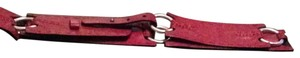 Red Leather Belt with Silver Hardware Red Leather Vintage Belt M/L