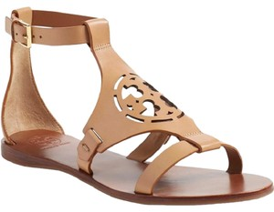Tory Burch Gold Tone Hardware Leather Style#12169532 Made In Brazil Sand Sandals