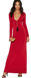 Burgundy Maxi Dress by Nasty Gal Maxi S L