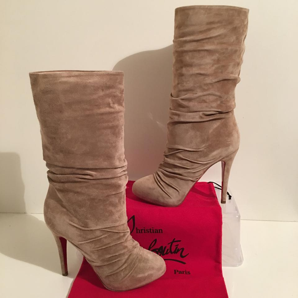 886aa10b468 Christian Louboutin Grey Piros Suede Ruched 36.5 - 6.5 Boots/Booties Size  US 6 60% off retail