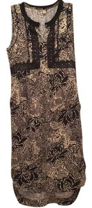 Black and Beige Flower Print Maxi Dress by Holding Horses