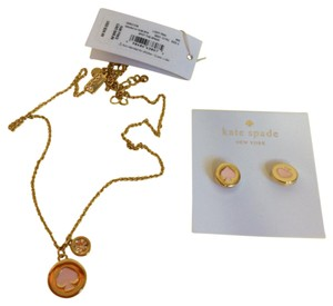Kate Spade Kate Spade Pink Necklace and Earrings Set