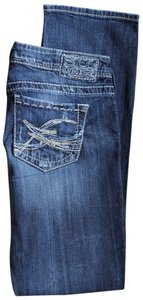 Silver Jeans Co. Berkley Embroidered Skinny Skinny Jeans-Light Wash