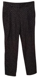 Theory Relaxed Pants Black Printed