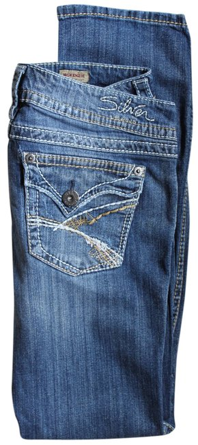 Item - Blue Distressed Mckenzie L32 Boot Cut Jeans Size 29 (6, M)
