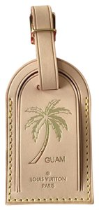 Louis Vuitton Louis Vuitton Guam Palm Tree stamped large vachetta luggage tag