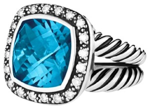 David Yurman 11mm Hampton Blue Topaz Moonlight Ice Ring