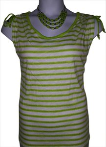 Michael Kors Top Green/White