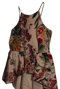 cameo /anthropology Top green red cream