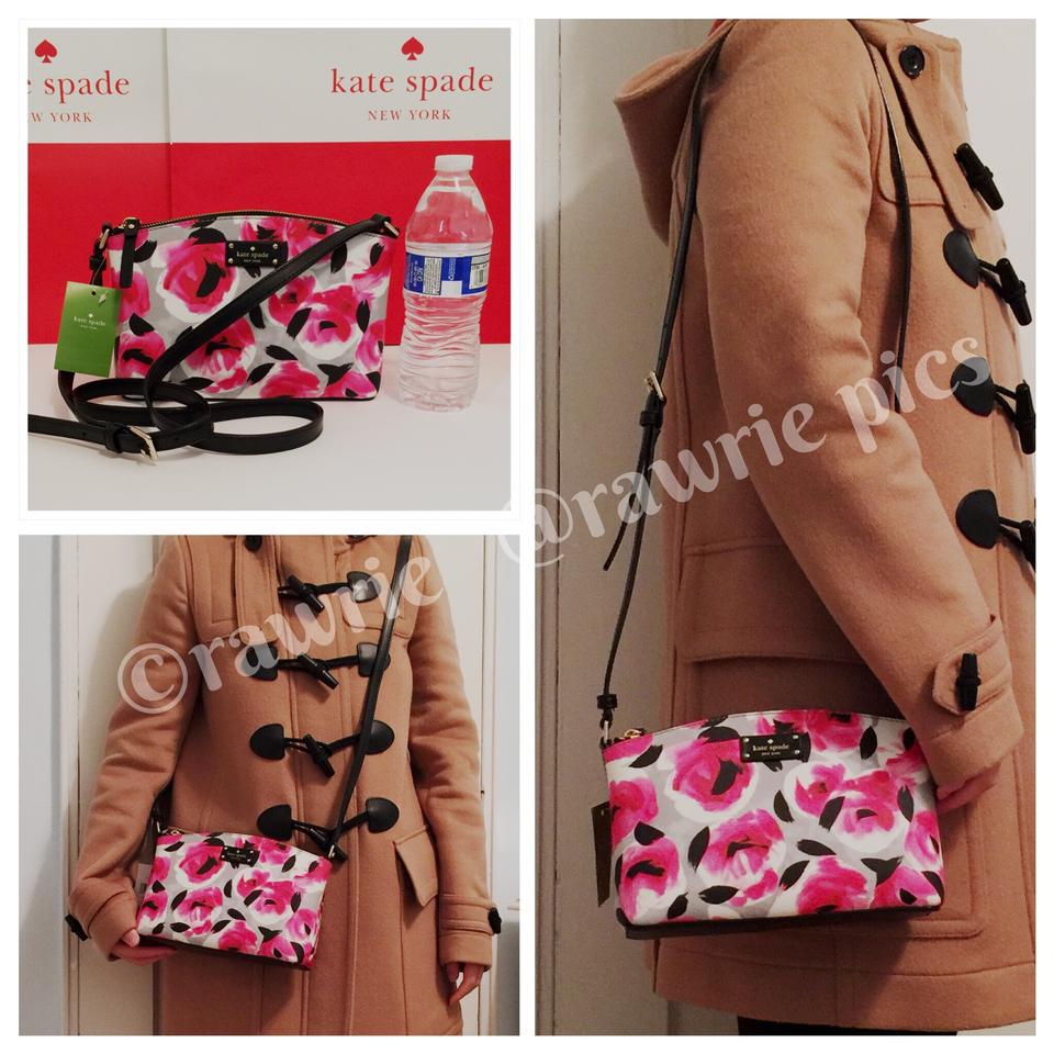 8efedcdff019 Kate Spade Floral Roses Multi-colored Leather Adjustable Shoulder Bag Image  4. 12345