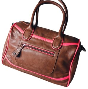 Apartment 9 Satchel in brown with pink