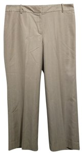 Ann Taylor Straight Pants Beige with Pinstripes