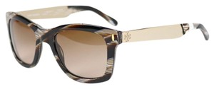 Tory Burch Tory Burch Vintage Square Sunglasses with Metal Logo