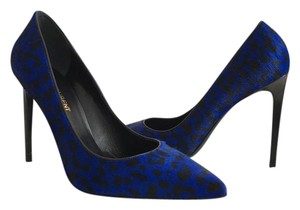 Saint Laurent blue leopard print Pumps