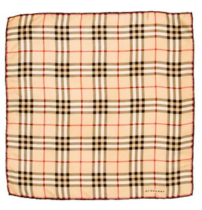 Burberry Beige, black multicolor Burberry Nova Check print silk scarf