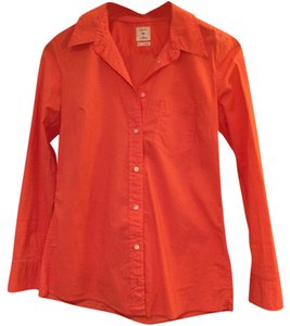 Gap Button Down Shirt Coral