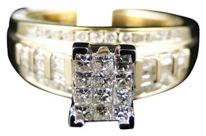 Other 10K Yellow Gold Princess Cut Diamond Engagement Wedding Ring .80ct