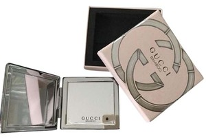 Gucci Gucci Bamboo Silver Metal Compact Pocket Mirror NEW In Box Authentic!