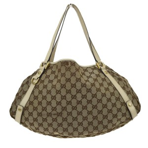 Gucci Leather Bamboo Leather Speedy Keepall Shoulder Bag