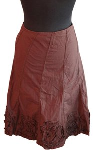 Other Summer Casual Work Embellished Skirt Brown