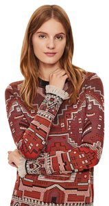 Tory Burch Tapestry Fringed New With Tags Sweater