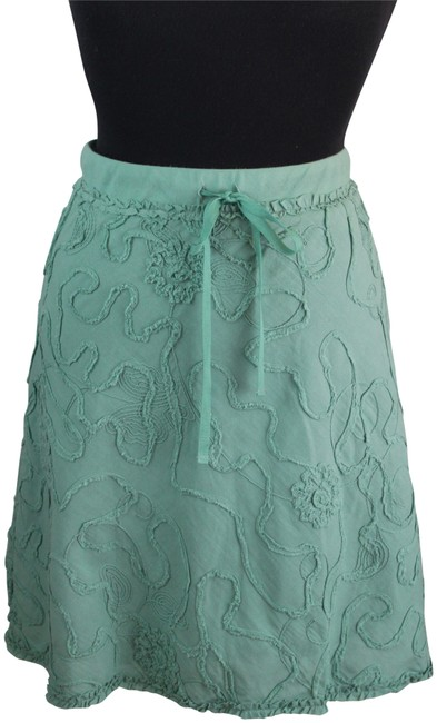 Item - Mint Green Embroidered Pattern Skirt Size 10 (M, 31)